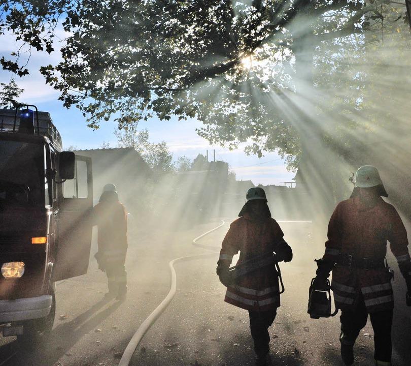 Das sommerliche Herbstwetter brachte f...g der Feuerwehrabteilung Oberweier.       Foto: axel fleig