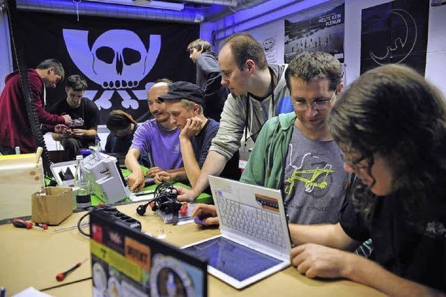 Erstes Reparatur-Café des Chaos-Computer-Clubs in Freiburg
