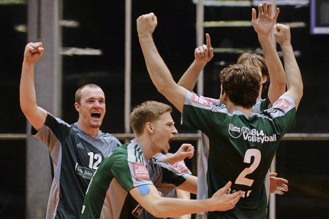 Zweitliga-Volleyballer von 1844 Freiburg feiern Fünfsatz-Erfolg über Leipzig