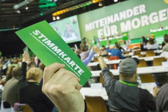 Die Grünen drehen sich auf ihrem Parteitag im Kreis