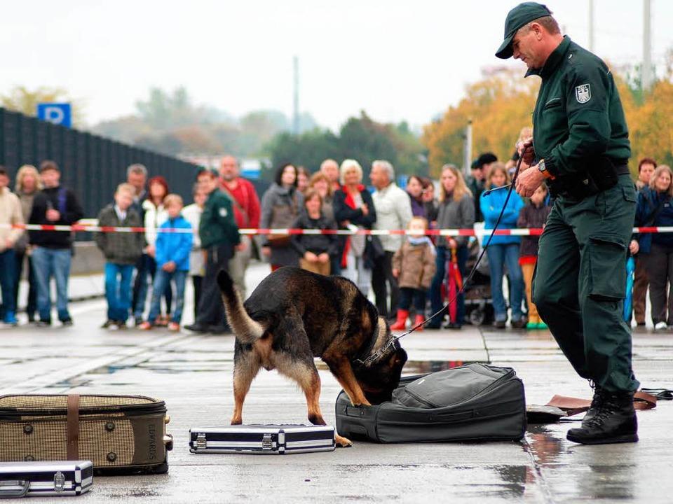 Zollspürhunden veranschaulichten die Arbeit am Zoll.   | Foto: Loisl Mink