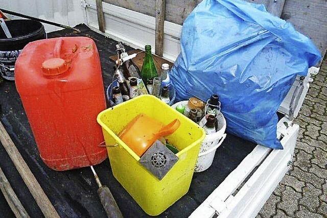 Zehn Tonnen Müll in der Woche