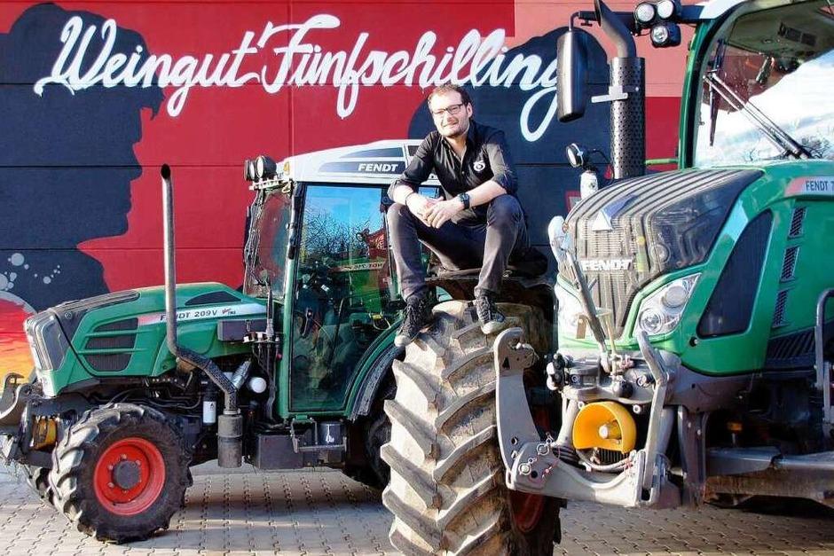 Stefan Fünfschilling steht auf große Traktoren. (Foto: BZ)
