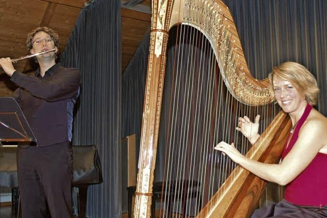 Wenn Harfe auf Querflöte trifft...