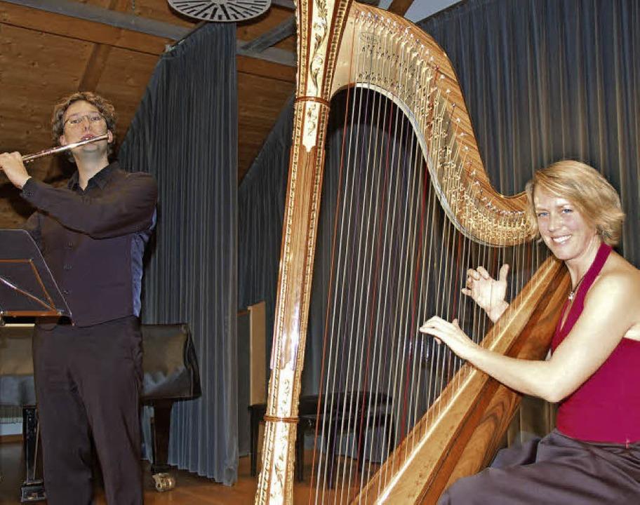 Himmlische Klänge im Konzert mit Flöte und Harfe  | Foto: Andrea Steinhart