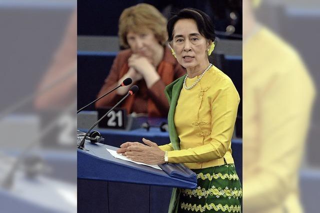 """Aung San Suu Kyi in Straßburg: """"Unser Ziel ist, frei zu sein"""""""