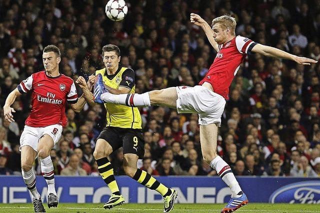 Dortmund siegt bei Arsenal