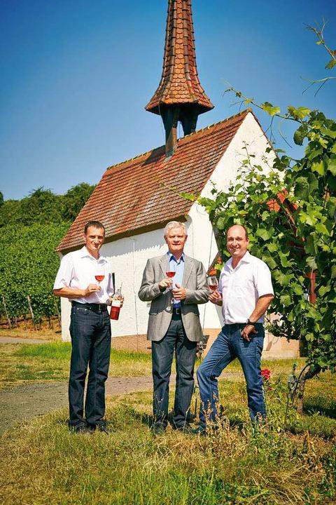 Freuen sich über den DLG-Bundesehrenpr...inger und Kellermeister Werner Giener.  | Foto: Axel Killian/DLG