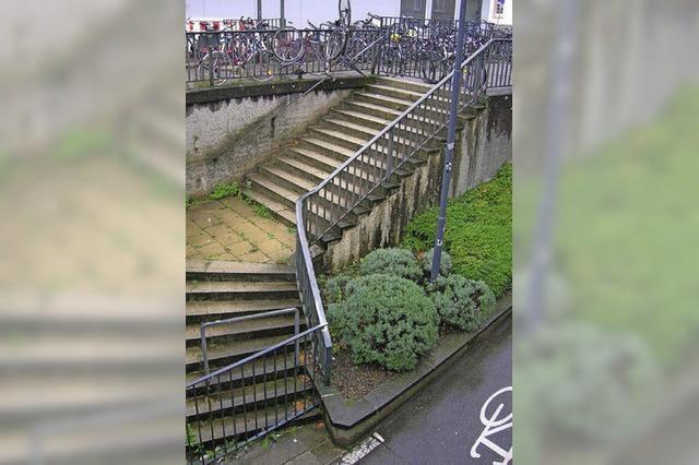Die Treppe des Anstoßes soll noch dieses Jahr weg