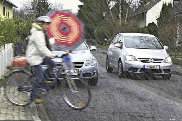 Stürmische Autofahrt