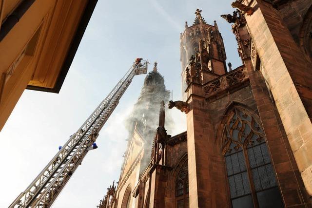Das Münster brannte – aber nur mit Disconebel