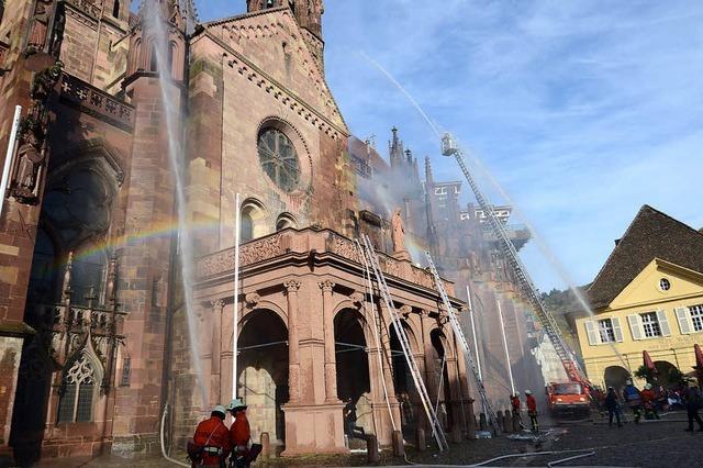 Feuerwehren, Rettungsdienste, Bergwacht und Polizei simulieren Münster-Brand