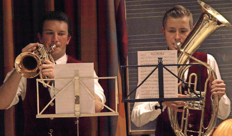 Das traditionelle Wunschkonzert des Mu...as Haselwander und Martin Muchenberger  | Foto: Karin Stöckl-Steinebrunner