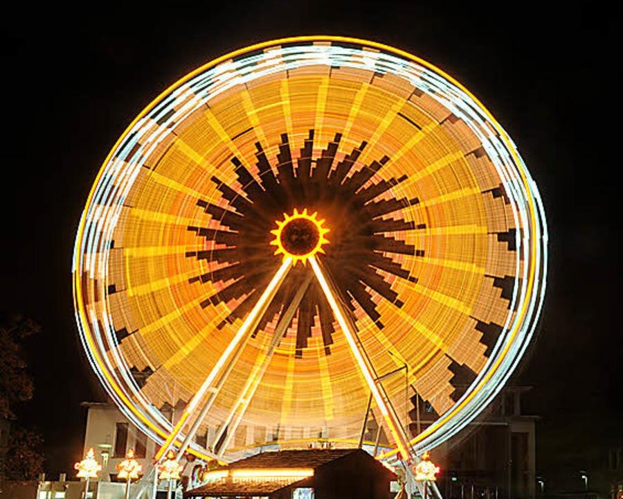 <ppp>sieht das Riesenrad auf dem<ppp></ppp></ppp>  | Foto: Wolfgang Künstle