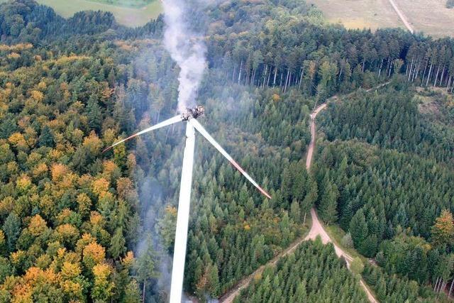 Ausgebranntes Windrad wird im November abgebaut