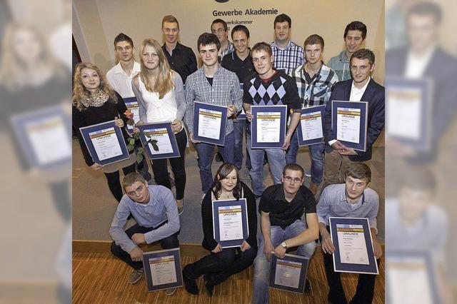 Erfolge für junge Handwerker aus der Ortenau