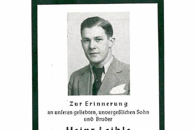Briefe des Lörrachers Heinz Leible aus dem KZ aufgetaucht