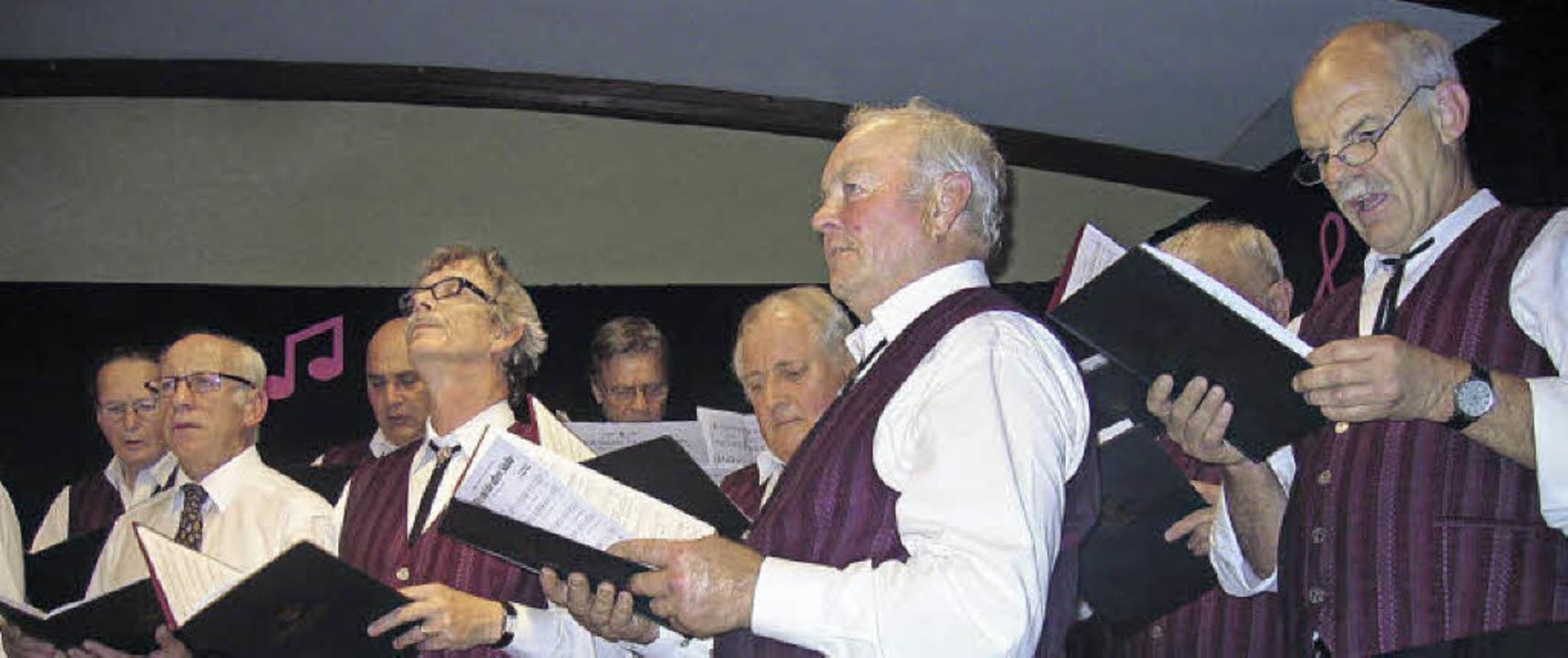 Altes  Liedgut, moderne  Töne: Der Män...begeisterte bei seinem Herbstkonzert.   | Foto: ingeborg grziwa