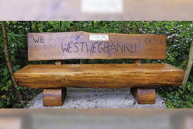 Zur Erinnerung ein Westwegbänkli