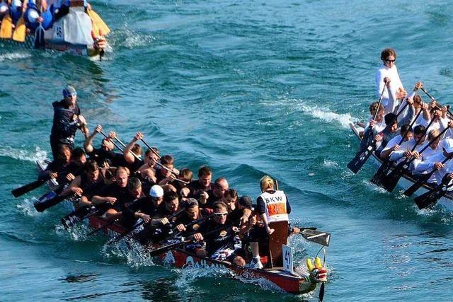 Drachenboote vom Hochrhein vor dem Saisonhöhepunkt