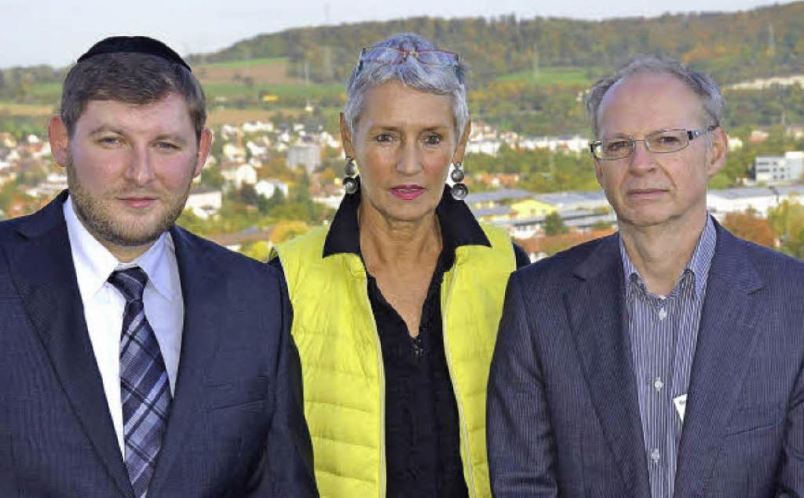 Partner für die Gestaltung des  Gedenk...Pfarrer Michael Hoffmann (von links).     Foto: N. Trenz