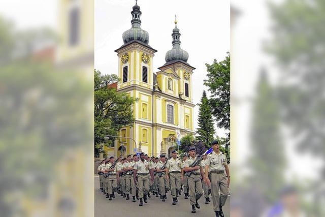Abmarsch aus Donaueschingen