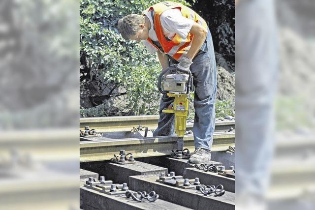 Alle Räder stehen still, wenn Gleise repariert werden