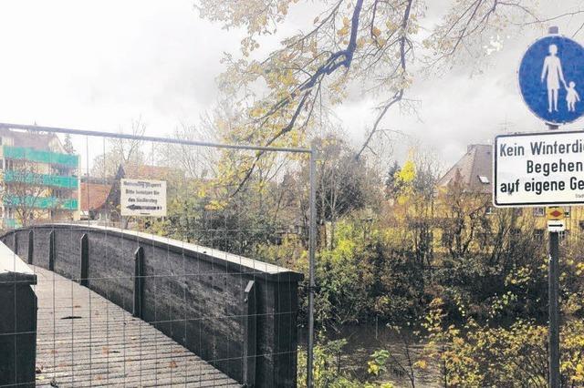 Neue Brücke über die Brigach