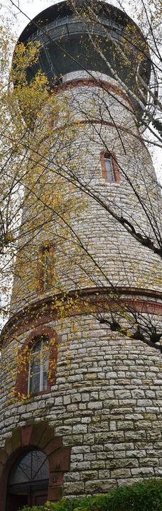 Der Wasserturm ist  in Narrenhand.    Foto: Ingrid Böhm-Jacob
