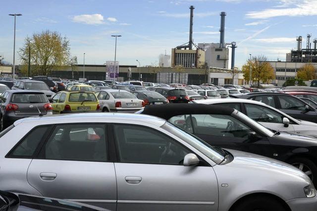Evonik eröffnet neuen Parkplatz