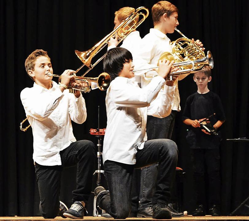 Das Blechbläserensemble  der Musikschule Südschwarzwald    Foto: Friederike Nottbrock