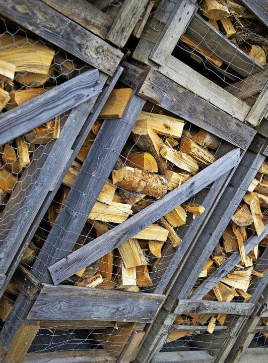 Brennholz ist  gefragt.     Foto: dpa