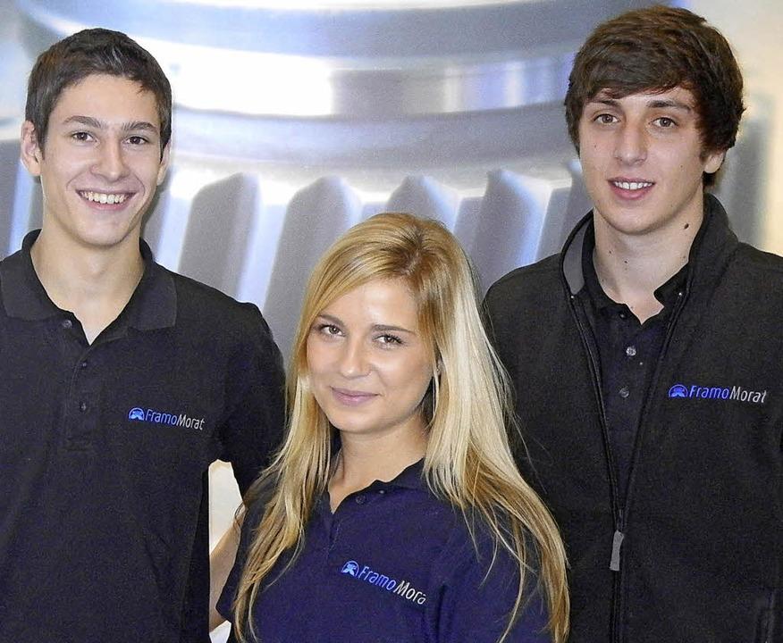 Christina Bosbach mit  Lars Gehring (links) und Marcel Koch.   | Foto: privat