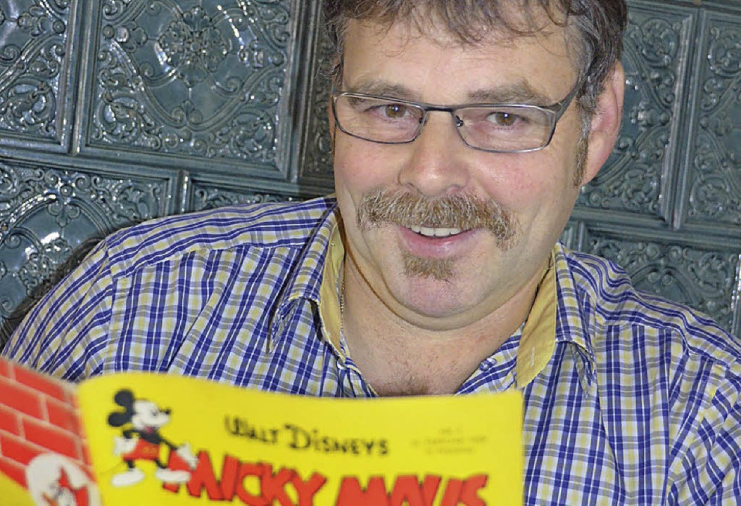 Markus Eckerlin ist Comic-Fan   | Foto: Sigrid Umiger