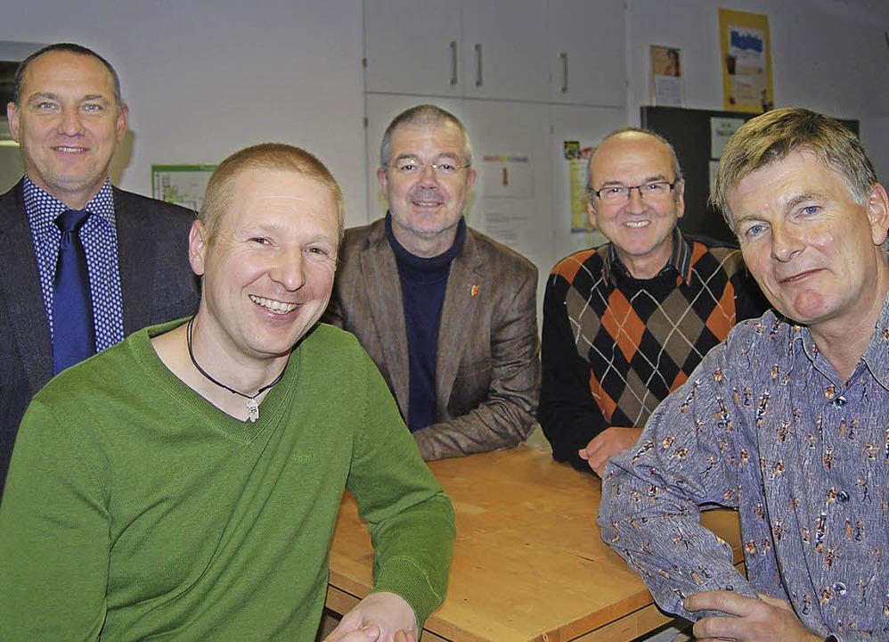 Der Vorstand des neuen Förderverein de...d links der  Vorsitzende Markus Röhm.     Foto: Privat