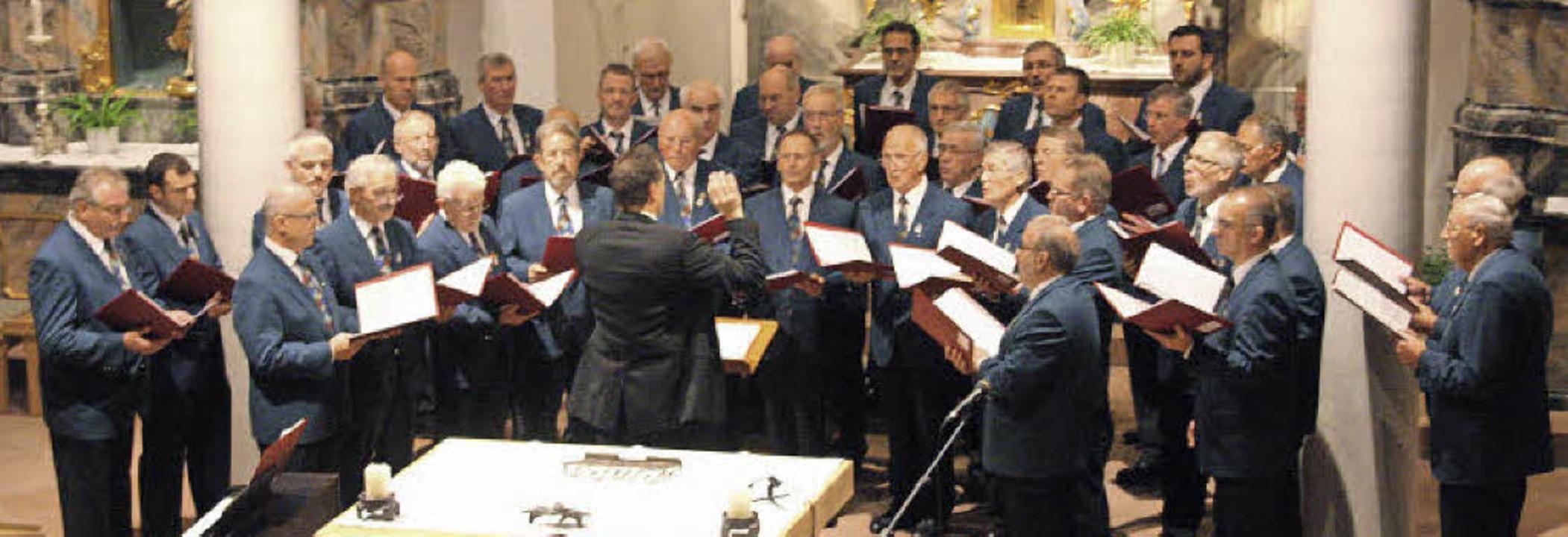 Die Chorgemeinschaft Schallstadt-Wolfe... Auftritt in der Kirche Sankt Blasius.    Foto: Hans Jürgen Kugler