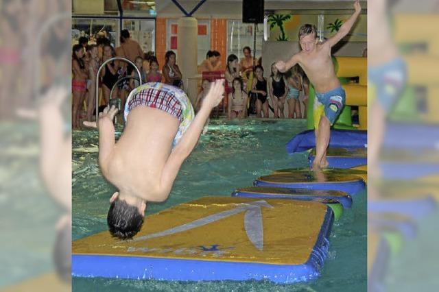 Poolparty im neuen Obermattenbad