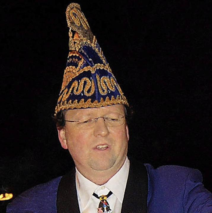 Zunftmeister Martin Klein eröffnete die Fasnacht in Karsau.  | Foto: Risch