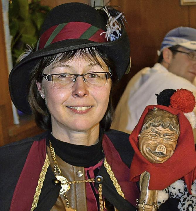 Oberzunftmeisterin Johanna Tröndle bei der Mottoverkündung    Foto: Paul Berger