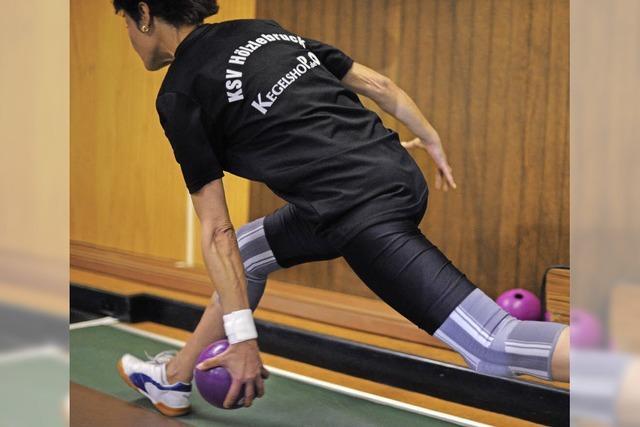 Reiner Fechti spielt Bahnrekord