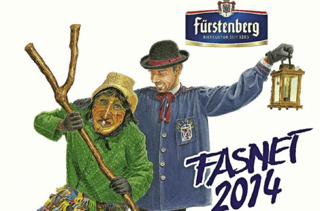 Da freut sich der Laternenbruder, wenn...er und der freien Narrenzunft Hausach.  | Foto: Fürstenberg Brauerei