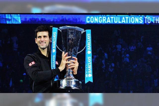 Konfettiregen über Djokovic