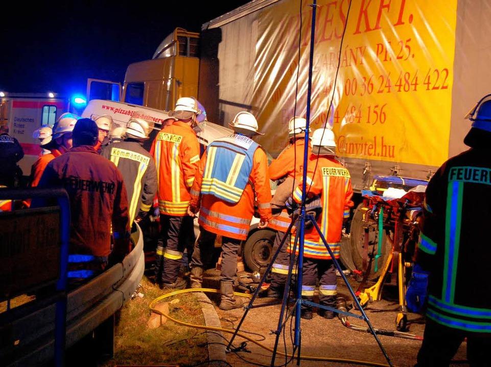 Der Unfall auf der K4972 bei Löffingen  | Foto: Kamera24-tv