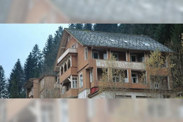 Waldhotel vor dem Abriss