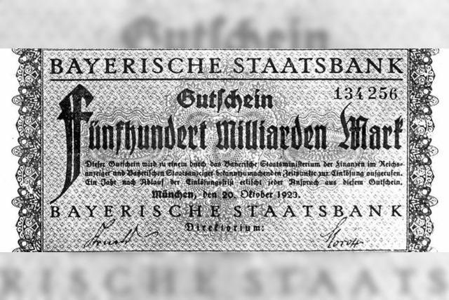 Die Geburt des deutschen Inflationstraumas