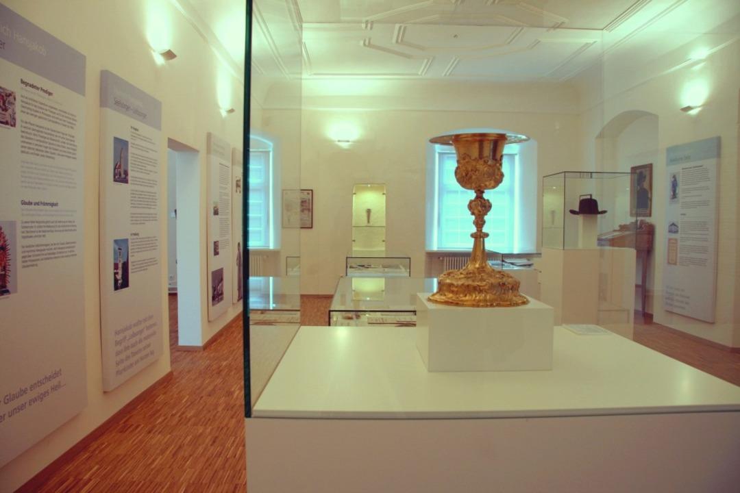 Blick in die Heinrich-Hansjakob-Ausstellung in Hagnau  | Foto: -