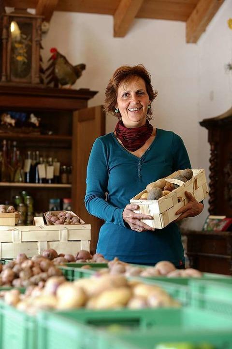 Christa Binders Leidenschaft ist der Verkauf.  | Foto: Christoph Breithaupt