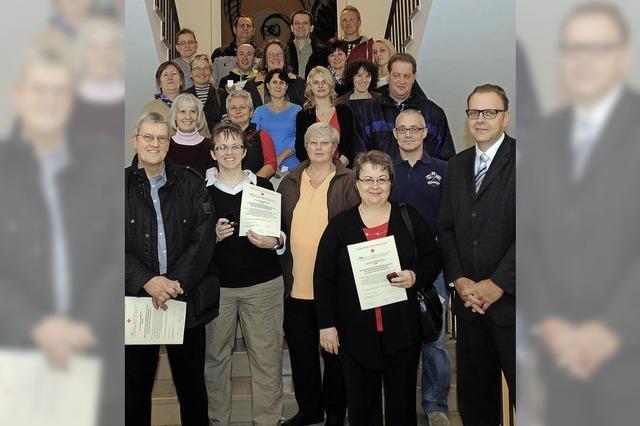Anerkennung für 49 Blutspender