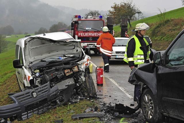 Schwerer Unfall auf B 415 Lahr Richtung Schönberg