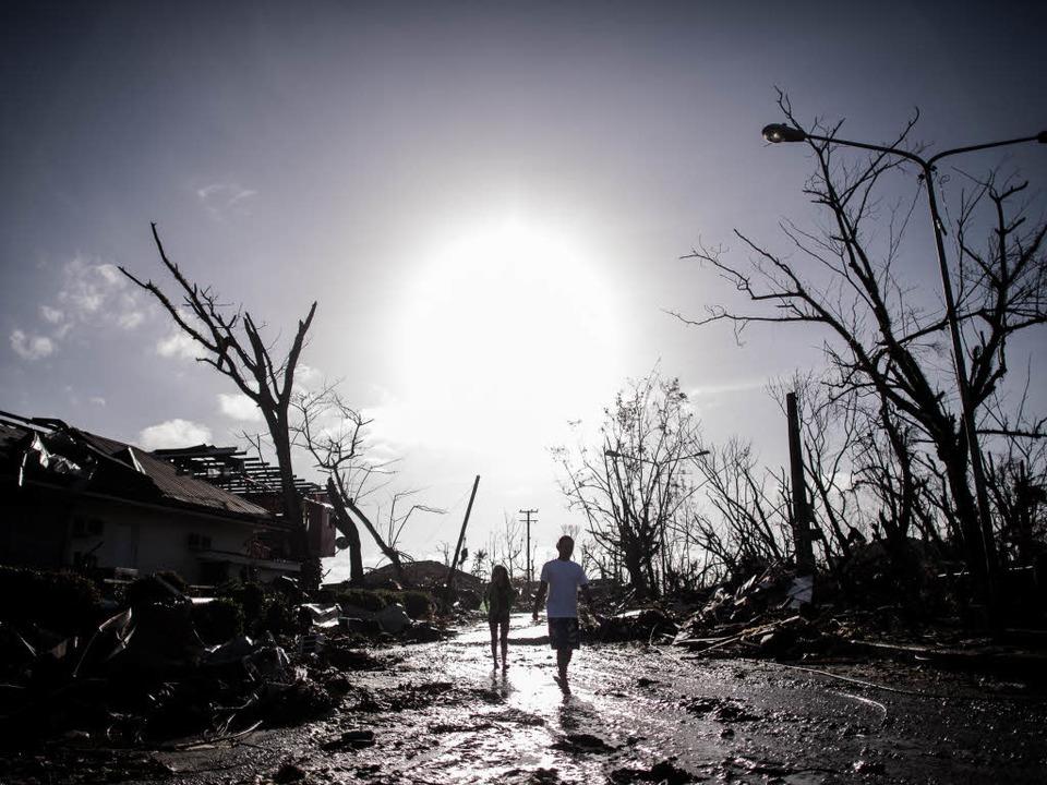 Tacloban ist nunmehr eine Geisterstadt.  | Foto: AFP